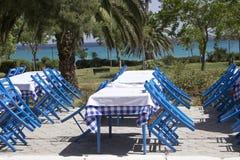 mediteranian restaurang arkivfoton