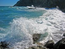 Mediterannean sea wave Stock Images