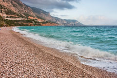 Mediterannean shore Stock Photo