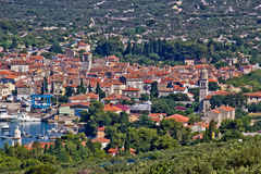 Mediterannean town of Cres, Croatia stock photos