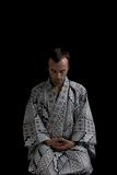 Mediterende mens Stock Foto's