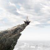 Mediterende onderneemster Stock Fotografie
