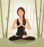 Mediterende vrouw Royalty-vrije Stock Foto's