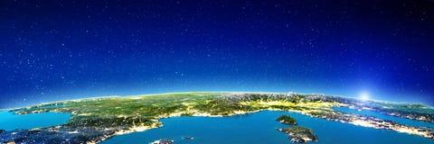 Mediterrâneo - França e Itália ilustração stock