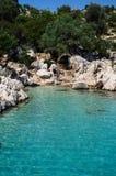 3 mediterrâneos azuis claros Fotografia de Stock