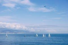 Mediterraan Antibes Frankrijk stock afbeeldingen