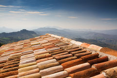 Mediterraan baksteendak, Italië Royalty-vrije Stock Fotografie