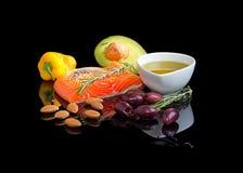 Mediterraan dieet omega-3. Stock Foto's