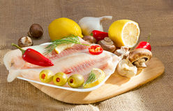 Mediterraan dieet omega-3. Royalty-vrije Stock Foto
