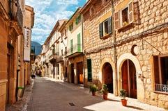 Mediterraan dorp Stock Foto's