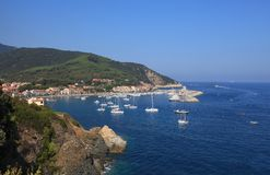 Het eiland van Elba Stock Foto's