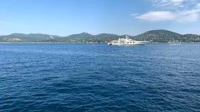 Mediterraan kustzuiden van Frankrijk stock videobeelden