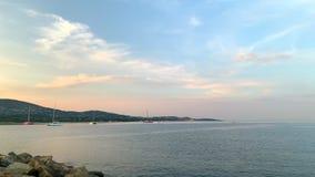 Mediterraan kustzuiden van Frankrijk stock video