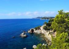Mediterraan landschap Stock Afbeeldingen