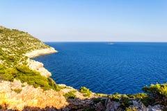 Mediterraan landschap royalty-vrije stock afbeeldingen