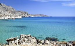 Mediterraan landschap, het Eiland van Rhodos (Griekenland) Royalty-vrije Stock Foto's