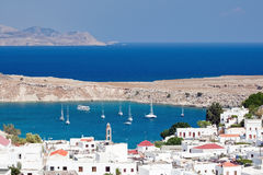 Mediterraan landschap, Rhodos (Griekenland) Royalty-vrije Stock Foto's