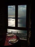 Mediterraan restaurant Stock Foto's