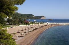 Mediterraan strand Stock Afbeelding