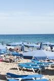 Mediterraan strand, Spanje Stock Afbeelding