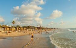 Mediterraan strand van Haifa, Israël royalty-vrije stock afbeeldingen