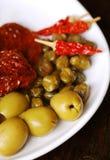 Mediterraan voedsel Stock Afbeeldingen