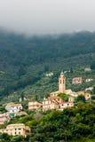 Mediterran kościół na wzgórzu Fotografia Royalty Free