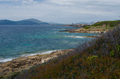 Mediterranan coast of Alghero, Sardinia Island, Italy Royalty Free Stock Photos