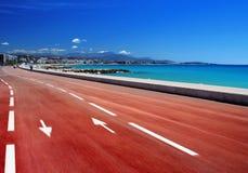 Mediterrane boulevard Royalty-vrije Stock Afbeelding