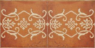 Mediterrane Ceramiektegel Stock Afbeeldingen