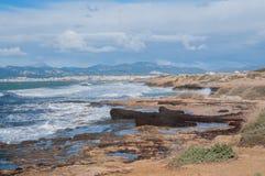 Mediterrane de winterscène. royalty-vrije stock fotografie