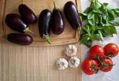 Mediterrane de zomeringrediënten Stock Fotografie