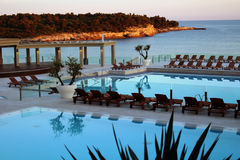 Mediterrane droomzonsondergang Royalty-vrije Stock Foto