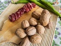 Mediterrane eigengemaakte snack royalty-vrije stock afbeelding