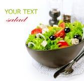 Mediterrane Griekse Salade Royalty-vrije Stock Foto