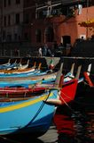 Mediterrane haven in Italië: cinque terre royalty-vrije stock foto