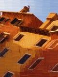 Mediterrane huizen Stock Afbeeldingen