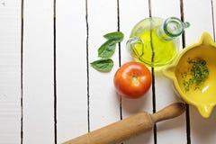 Mediterrane ingrediënten Stock Afbeelding