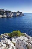 Mediterrane kust Royalty-vrije Stock Foto
