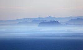 Mediterrane kust Royalty-vrije Stock Afbeelding