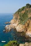 Mediterrane kust Stock Afbeeldingen