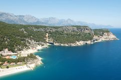 Mediterrane kust royalty-vrije stock fotografie