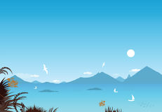 Mediterrane kust Stock Afbeelding