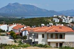 Mediterrane kust in Datca, Turkije Stock Foto's