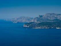 Mediterrane kust dichtbij door Marseille Stock Fotografie