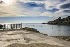 Mediterrane kust in Tarragona spanje royalty-vrije stock fotografie