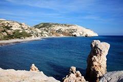 Mediterrane kustlijn Cyprus Royalty-vrije Stock Foto's