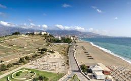 Mediterrane kustlijn, Fuengirola (Spanje) Stock Foto's