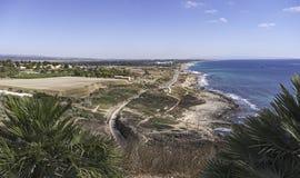 Mediterrane Kustlijn van Rosh HaNikra in Israël royalty-vrije stock fotografie