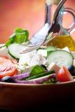 Mediterrane Salade Stock Afbeeldingen